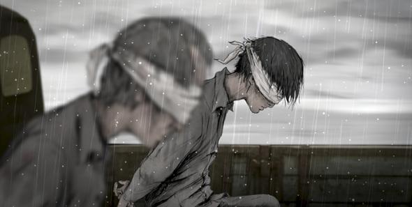 Mit seinem Vater wird Shin zum Hinrichtungsplatz gebracht