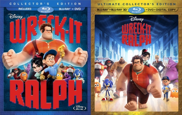 wreck-it blu ray covers