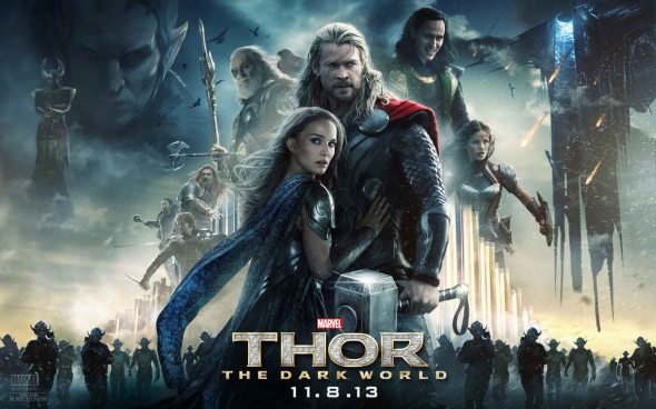 Thor-The-Dark-World-Chris-Hemsworth-Natalie-Portman-Tom-Hiddleston-quad-poster