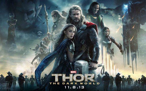 Thor-The-Dark-World-Chris-Hemsworth-Natalie-Portman-Tom-Hiddleston-quad-poster